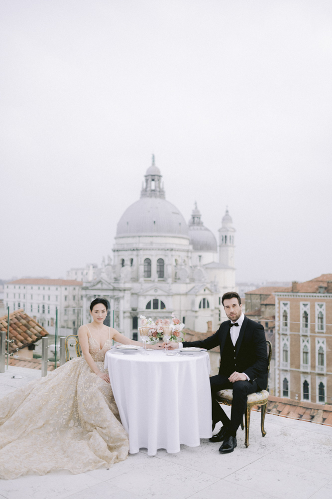 the grooms will soon eat on the roofs of the gritti palace for their wedding