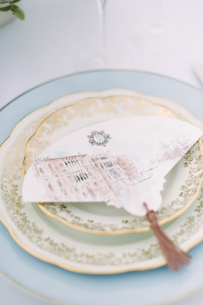 plate on a wedding table