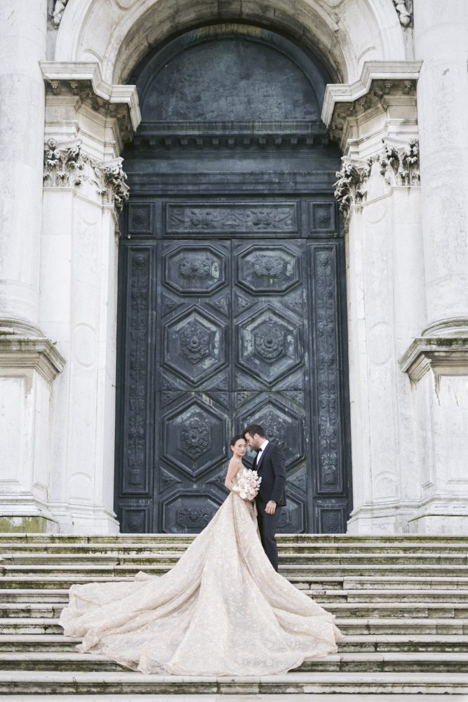 a couple in venice for wedding day