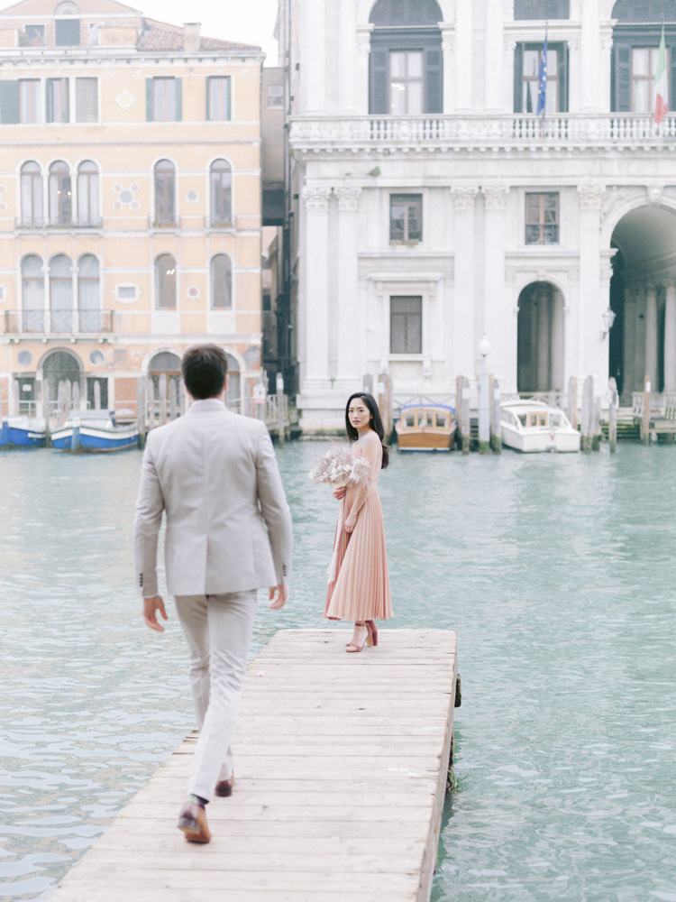 a couple in venice